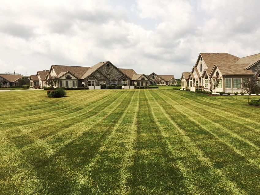Lawn mowing is our core service.